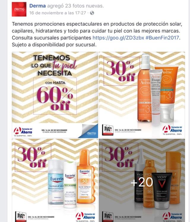 Buen Fin en Derma/Farmacias del Ahorro: hasta 35% de descuento en productos seleccionados de Eucerin, Avène, Vichy, Neutrogena y otros