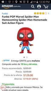 Buen Fin 2017 Amazon: funko pop spiderman con prime