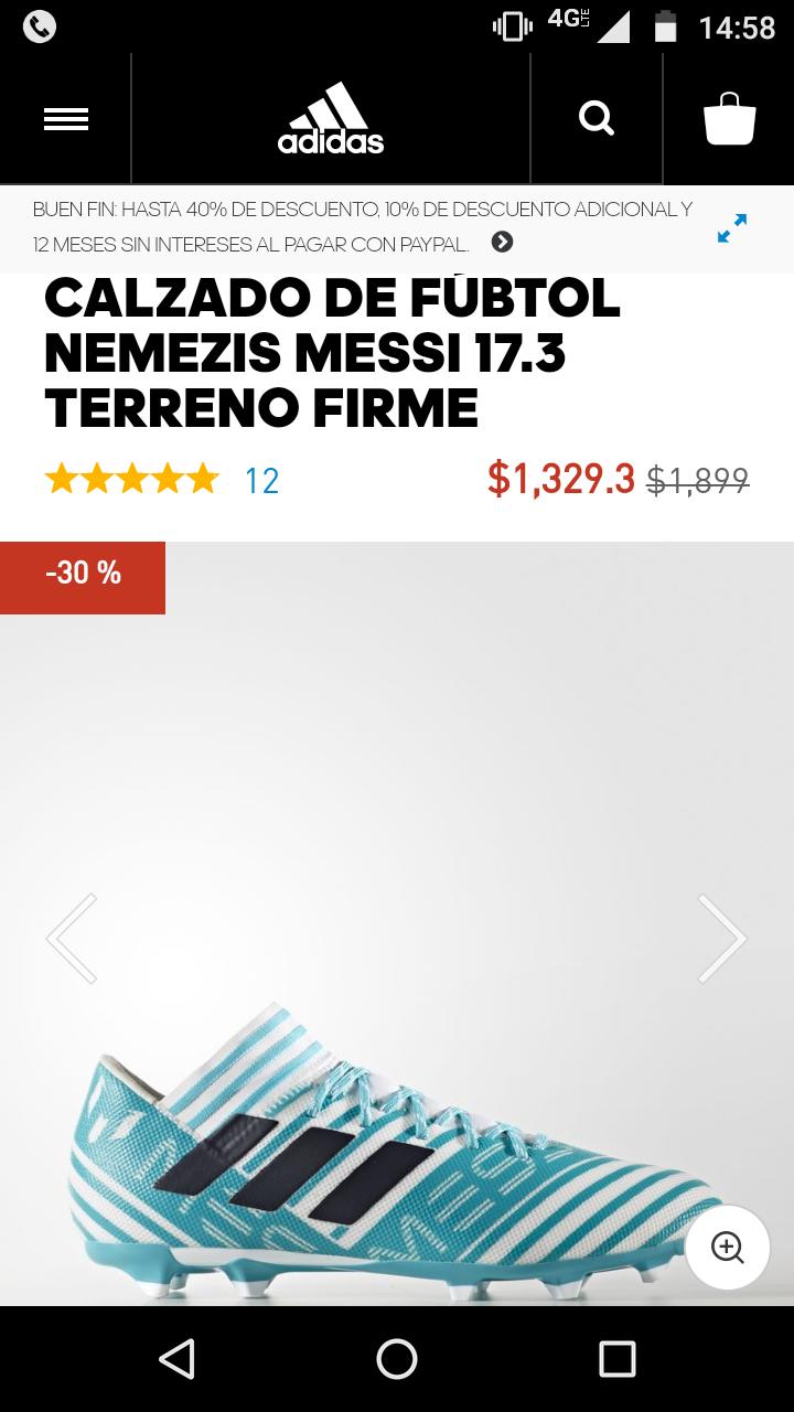 Buen Fin en Adidas: CALZADO DE FÚBTOL NEMEZIZ MESSI 17.3 TERRENO FIRME