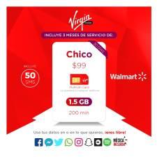 Buen Fin 2017 en Walmart en linea: SIM Virgin Mobile 3 meses 1.5GB y 200 minutos