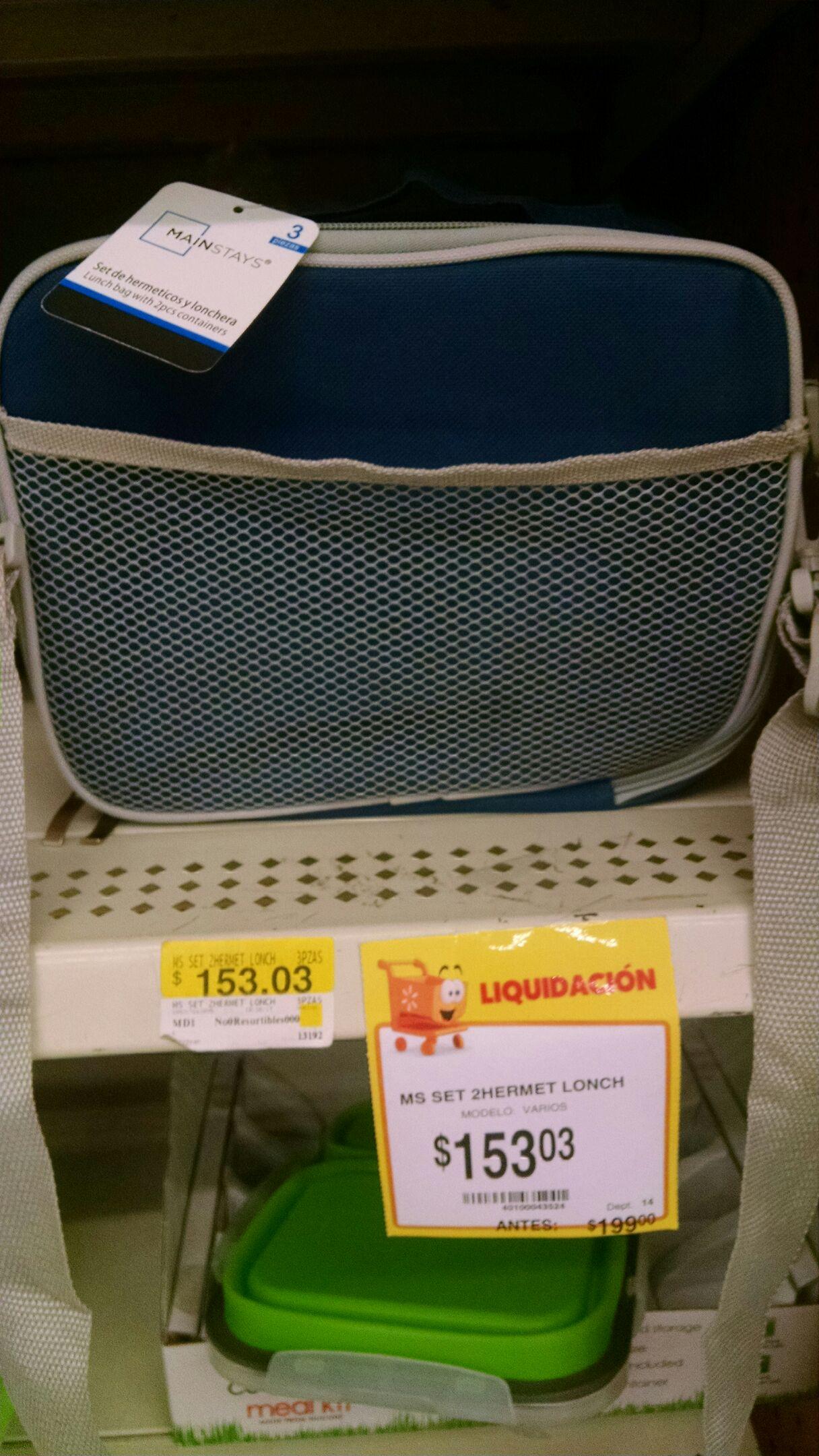 Walmart :Lonchera con herméticos adentro