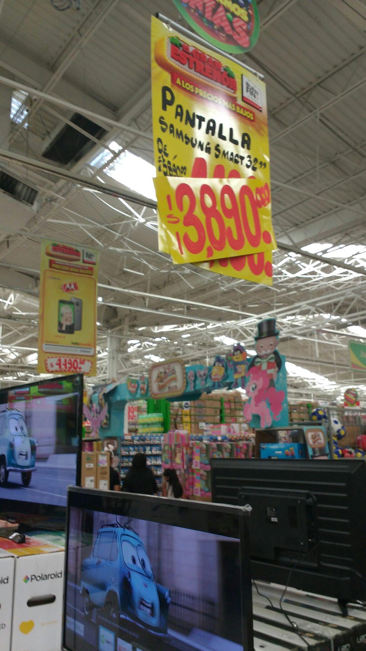 Pantalla Samsung 32 Smart TV bodega Aurrerá sucursal arboledas Guadalajara