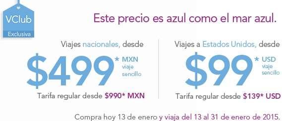 Volaris: vuelos desde $499 nacional y $99 dólares a USA con VClub