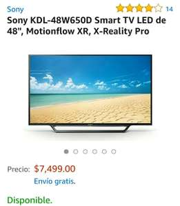 "Buen Fin 2017 en Amazon: Smart tv Sony 48"" baja a 6750"