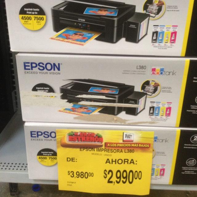 Buen Fin 2017 en Bodega Aurrerá: Impresora EPSON L380