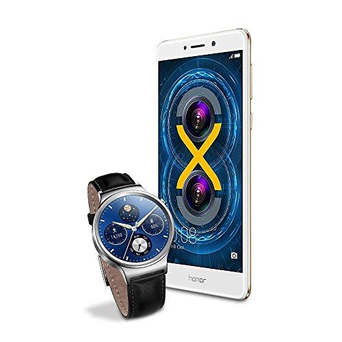 Buen Fin 2017 en Amazon:  Bundle Huawei Honor + Reloj Huawei con correa de piel