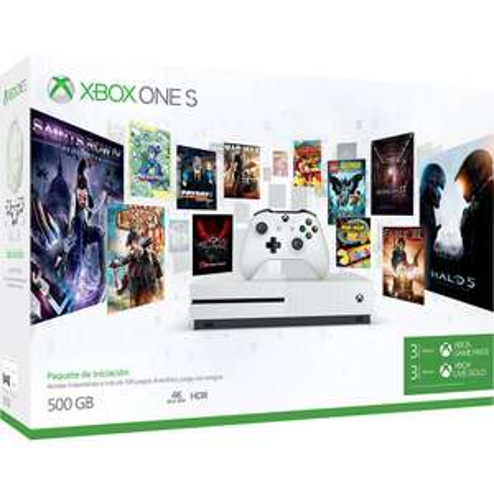 Buen Fin 2017 Elektra: Consola Xbox One S 500 GB + Membresía Game Pass (3 meses) y Live Gold (3 meses) con Banamex a 12MSI