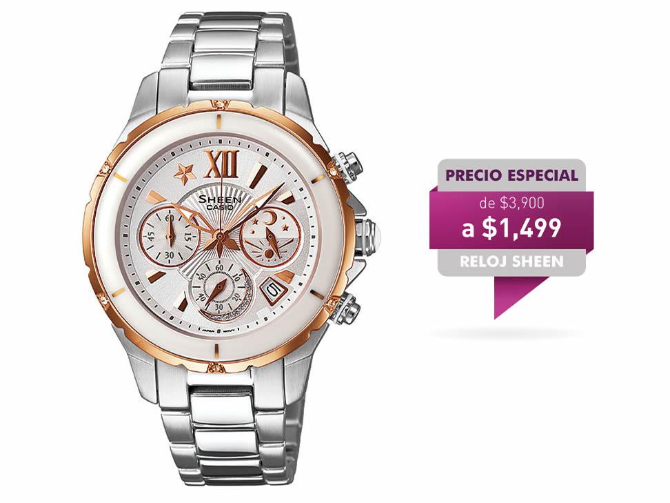 Liverpool en linea: Reloj Casio modelo Sheen a $1019