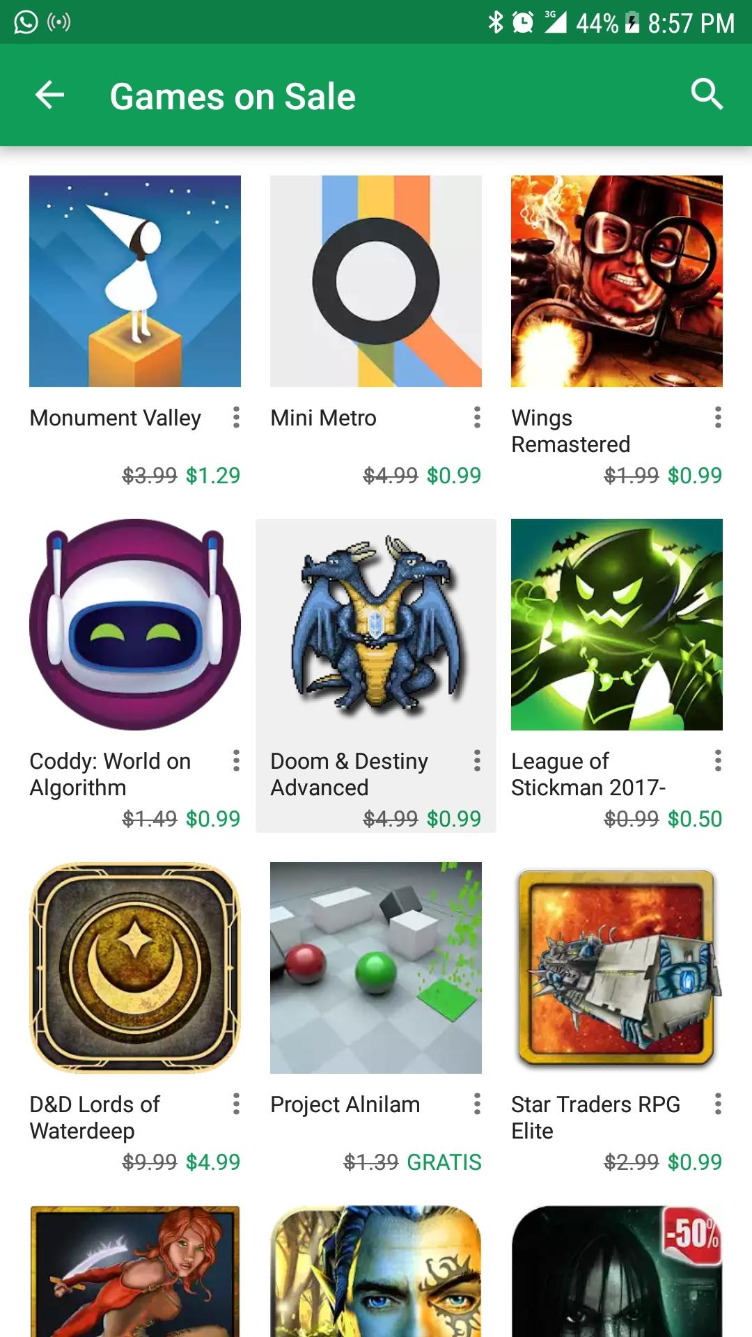Google Play: Tres juegos gratis por tiempo limitado