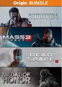 Origin: paquete con Battlefield 4, Mass Effect 3, Dead Space 3 y Medal of Honor $299