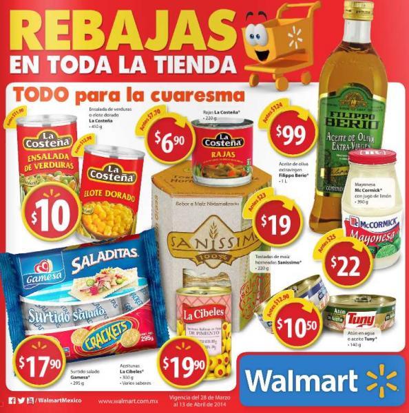 Folleto de ofertas en Walmart del 28 de marzo al 13 de abril