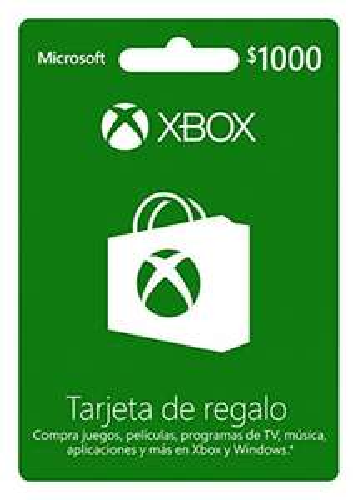 Buen Fin 2017 en Amazon: Tarjeta Xbox Live $1,000 20%+10% de descuento (+10% adicional con TC participantes)
