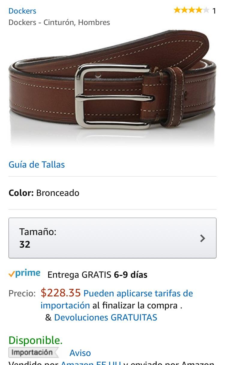 Amazon: Cinturón para hombre Dockers a $229
