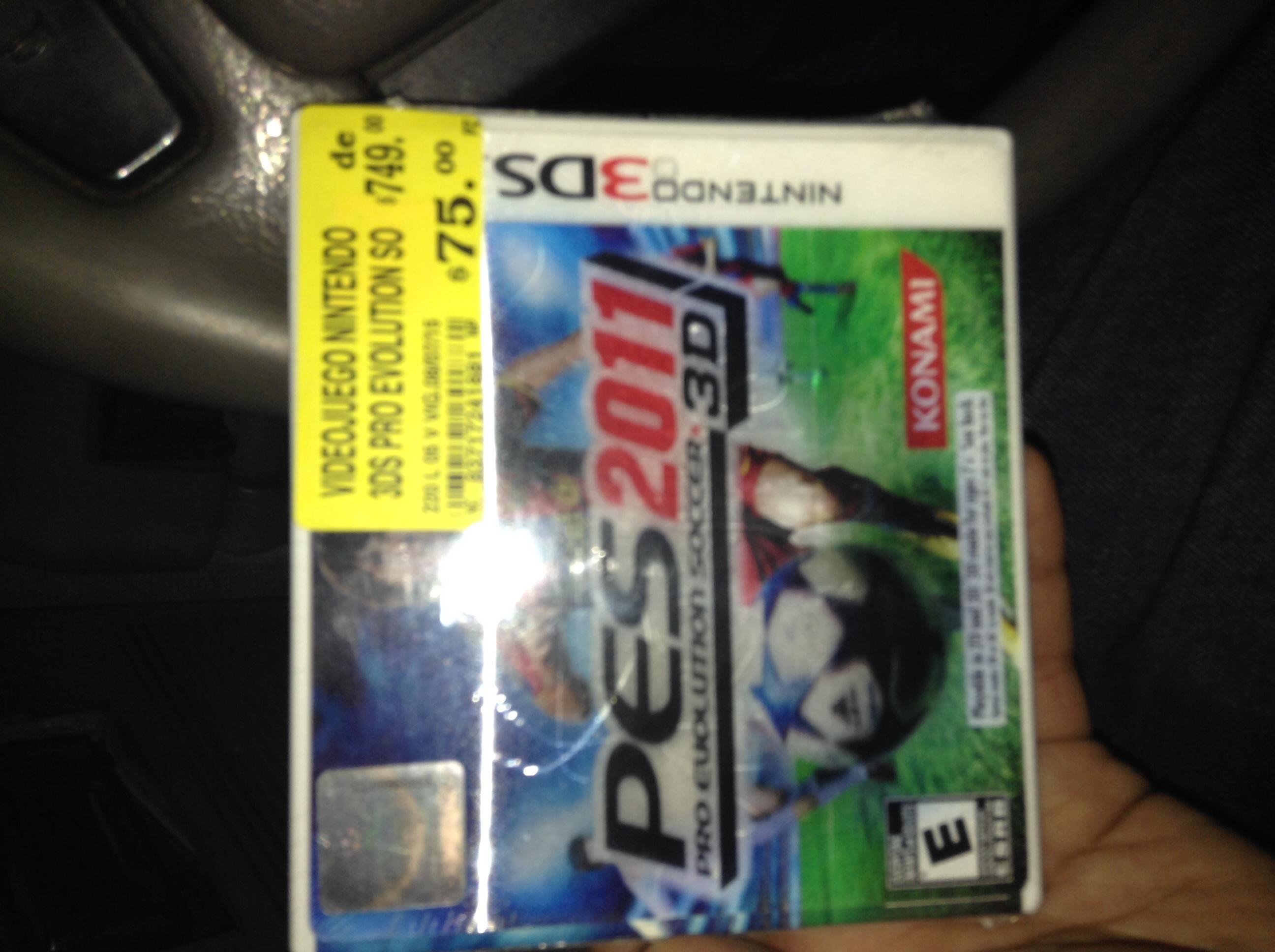 Soriana: videojuego PES 2011para PS3 y 3DS $75