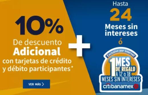 Elektra : 10% de descuento con tarjetas de crédito y débito citibanamex y banco azteca