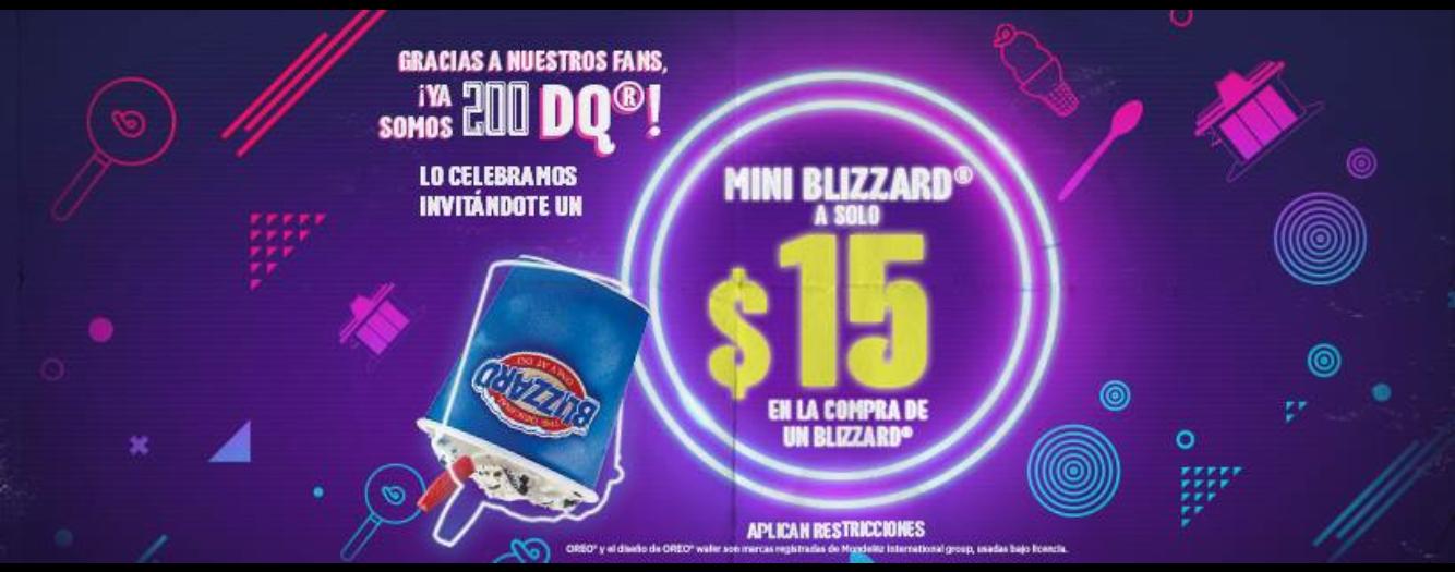Dairy Queen: Mini Blizzard a $15 en la compra de Blizzard!