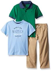 Amazon: conjunto playera, polo y pantalon náutica talla 3