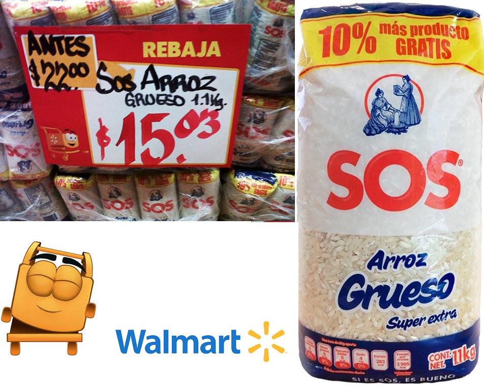 Walmart: Arroz SOS 1.1 kg a 15.03