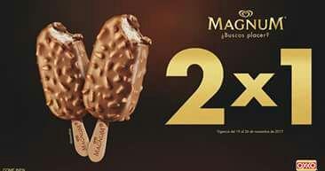 Oxxo:Magnum 2x1 con cupón