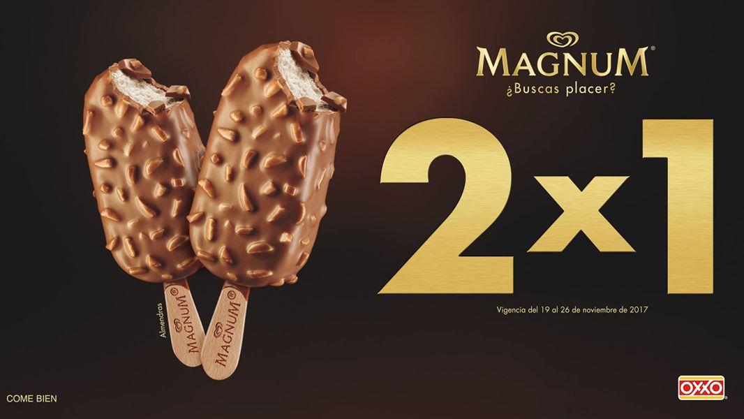 Oxxo: Magnum almendras 2x1 con cupón