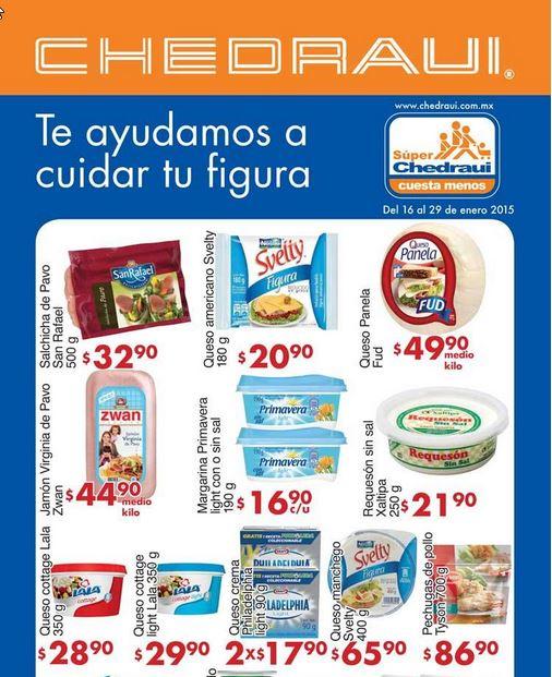 Folleto de ofertas en Chedraui del 16 al 29 de Enero del 2015