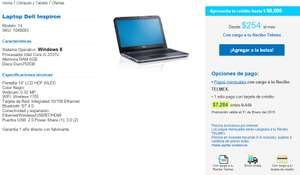 Telmex: laptop Dell Inspiron / Core I-5 / RAM 6GB / DD 750GB  $7,284