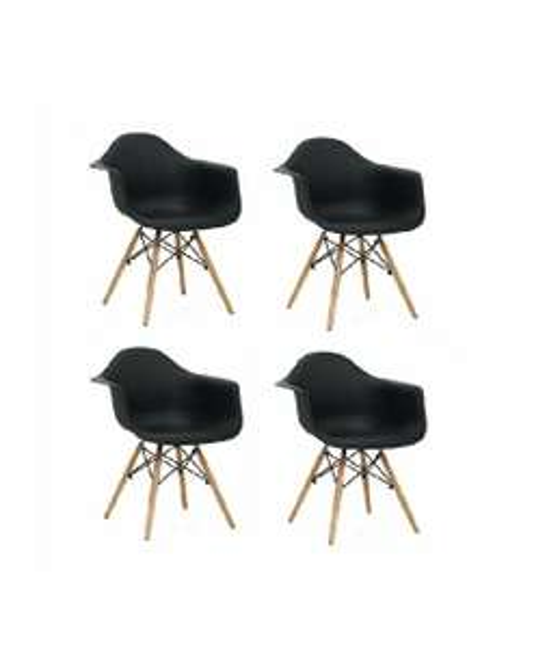 Black friday 2017 amazon set de sillas eames con for Sillas oficina black friday
