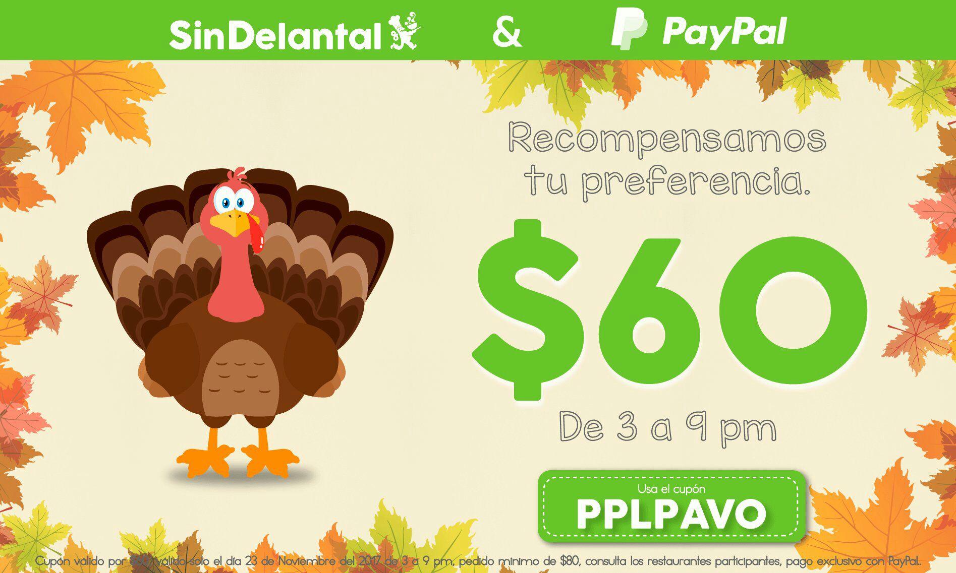 Sin Delantal: $60 de descuento