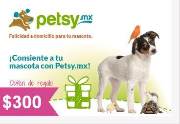Petsy: $300 de descuento en la compra de $500