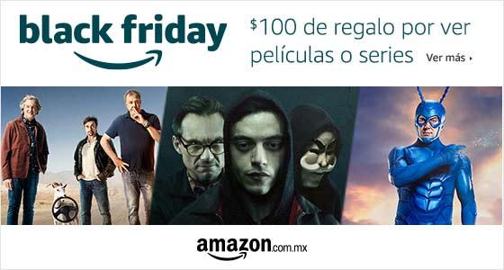 Black Friday: $100 de regalo por ver película o serie en Amazon Video