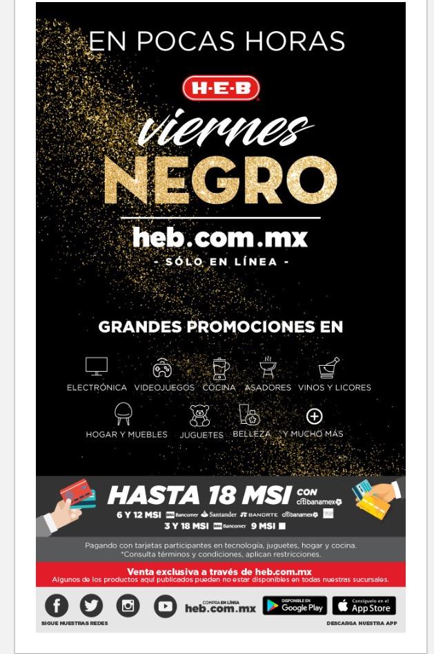 Black Friday HEB hasta 18 MSI