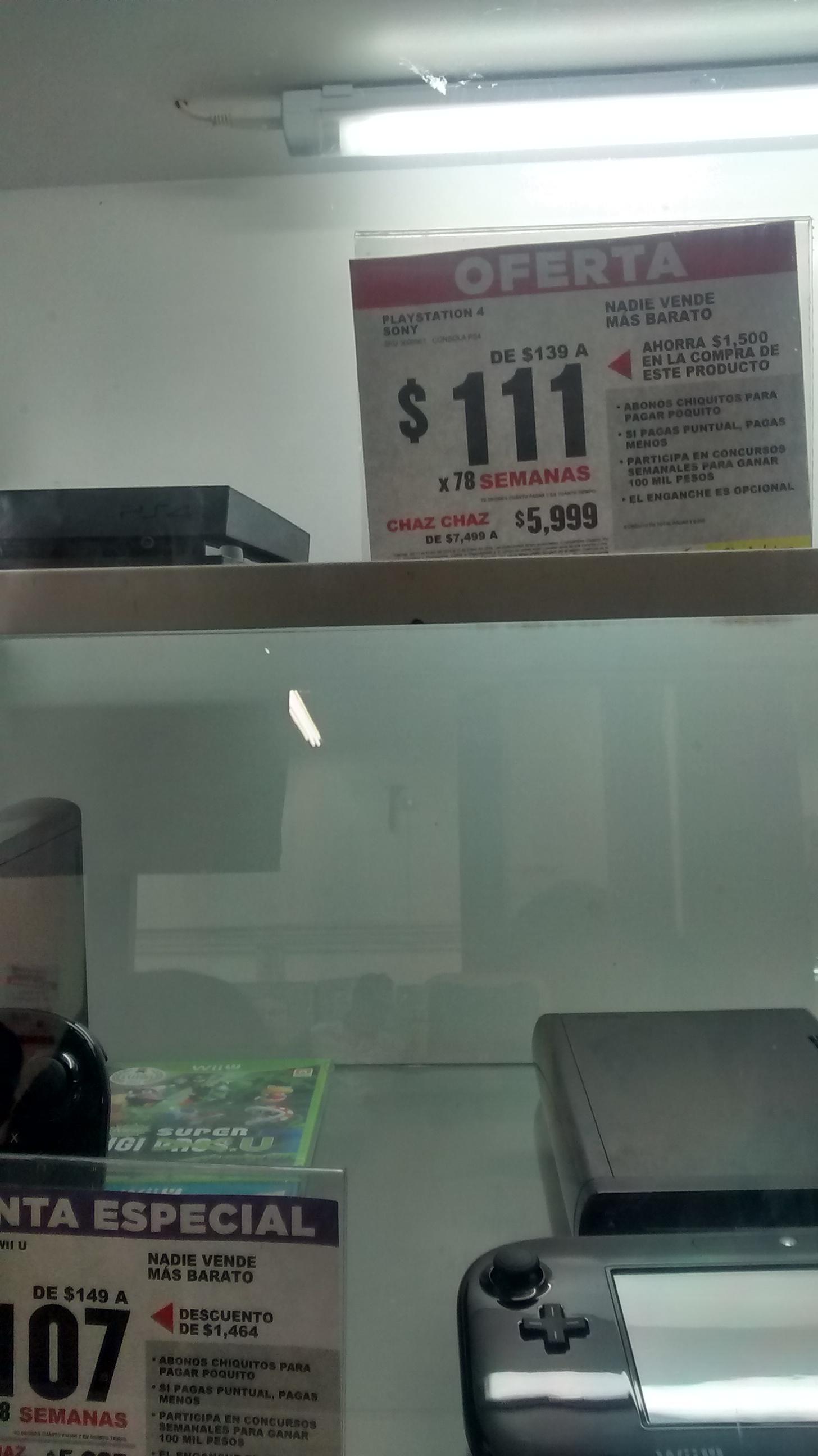 Elektra: consola PS4 $5,999
