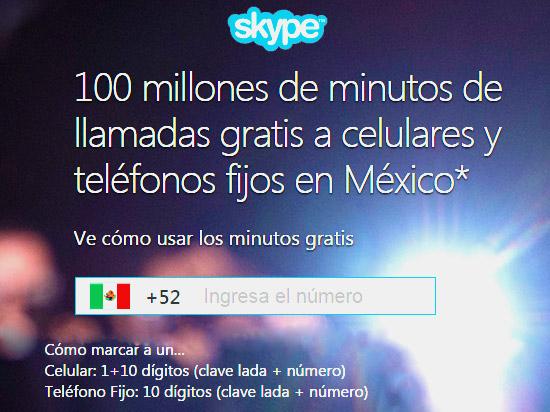 Skype: llamadas gratis a teléfonos fijos y celulares de México (promo extendida)
