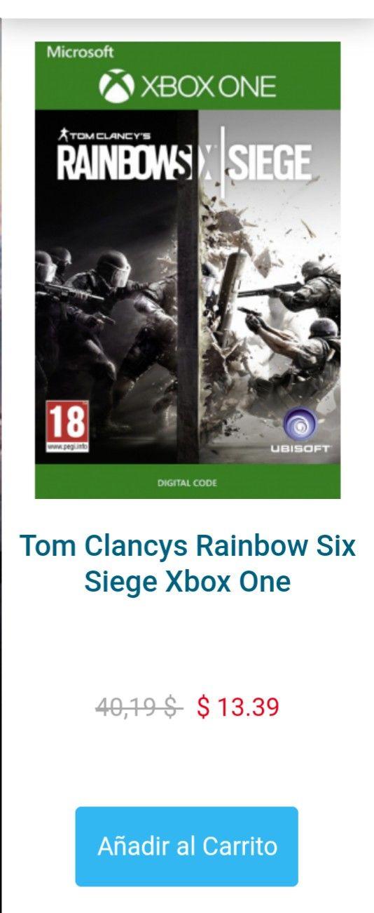 CD Keys: Rainbow Six Siege Xbox One