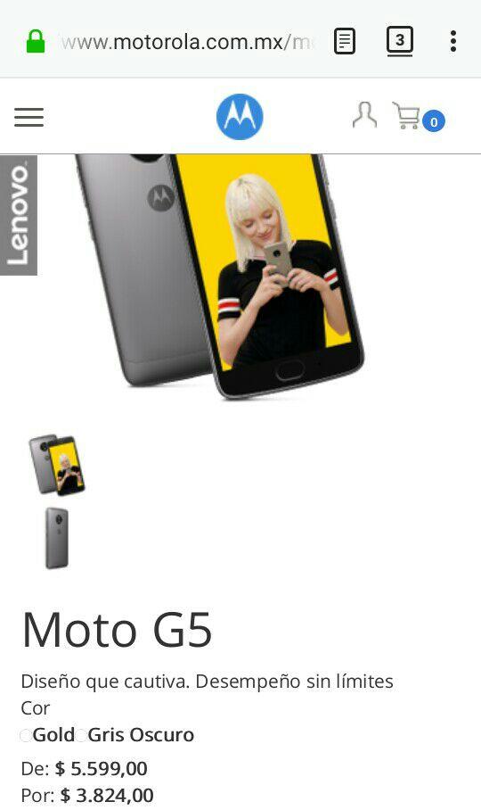 Black Friday 2017 Motorola: Moto g5 desde la pagina de motorola