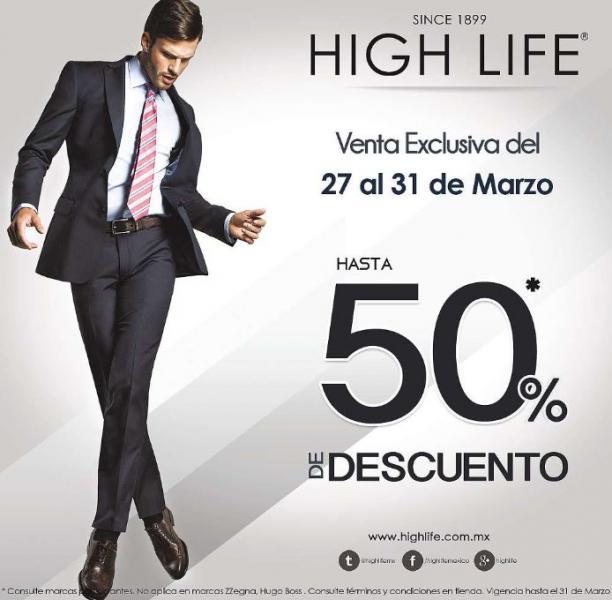 Venta exclusiva High Life: hasta 50% de descuento