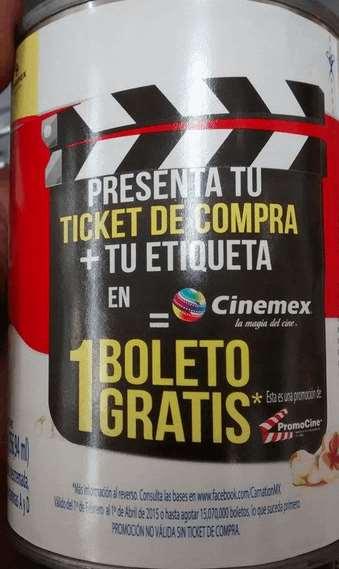 Boleto gratis para Cinemex comprando leche Carnation Clavel