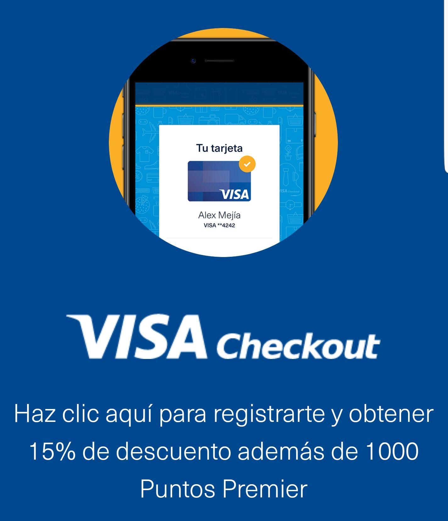 Visa Checkout y Aeromexico: 15% de descuento y 1000 puntos premiere