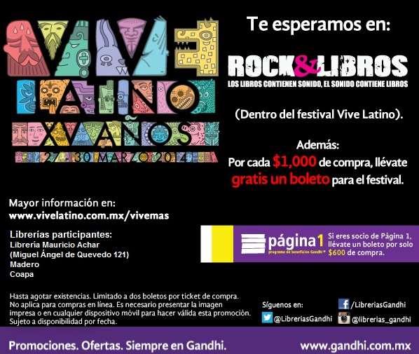 Gandhi: boleto gratis para Vive Latino con compa de $600 o $1,000