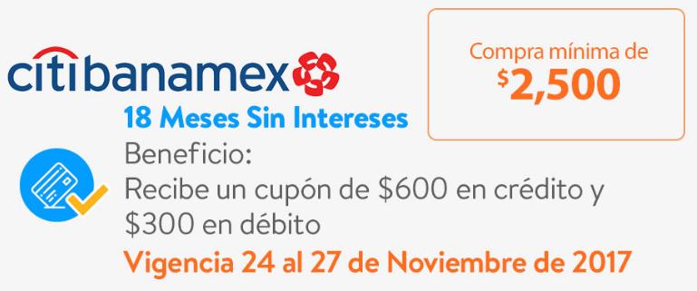 Walmart: CUPON DE $600 PARA LA PROXIMA COMPRA A 18 MSI con TDC CITIBANAMEX, $300para TDD