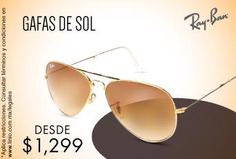 Linio: Gafas de Sol marca Ray Ban $1,299
