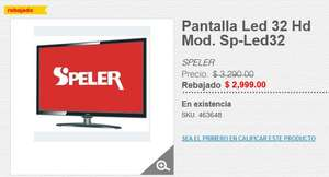 "Hot Monday 2017 HEB en Línea: Pantalla SPELER 32"" HD SP-LED32"