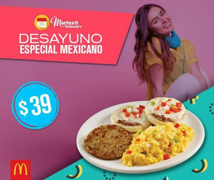 Martes de McDonald's: Desayuno especial Mexicano $39