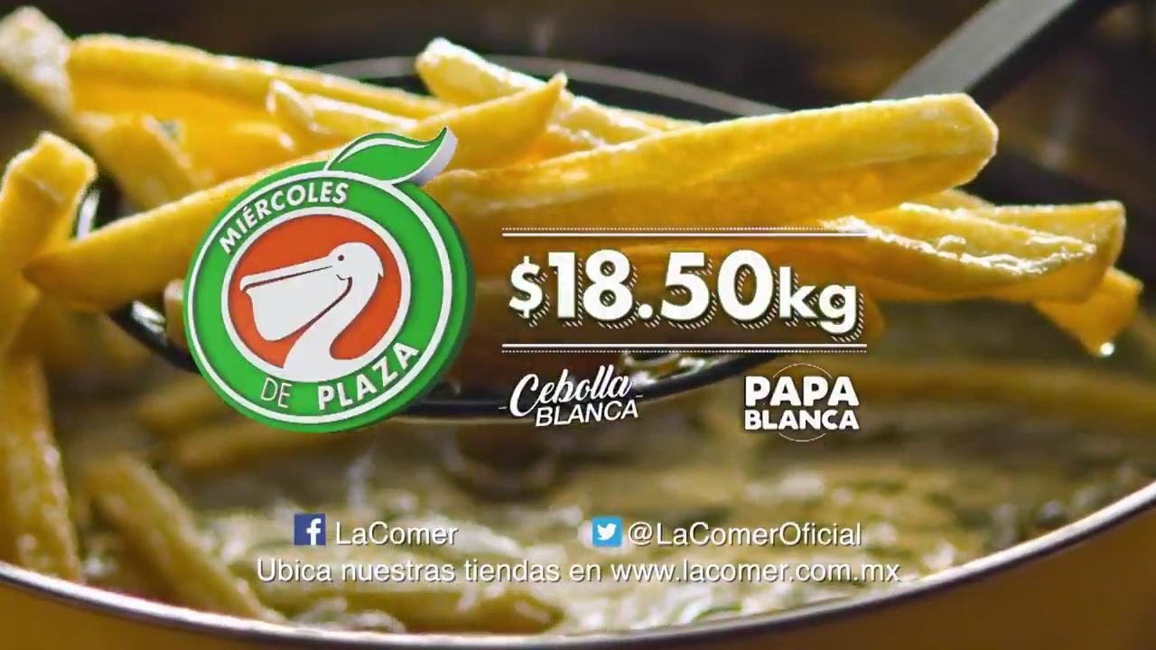 La Comer y Fresko: Miércoles de plaza 29 de noviembre (papa o cebolla a $18.50 cada kilo, melón o piña a $10.90 cada kilo)