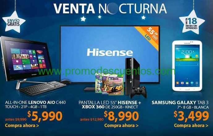 "Venta Nocturna Walmart marzo 25: pantalla LED 55"" + Xbox 360 250GB con Kinect $8,990 y +"