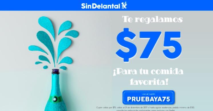 SinDelantal: $75 de Descuento. Primer pedido.