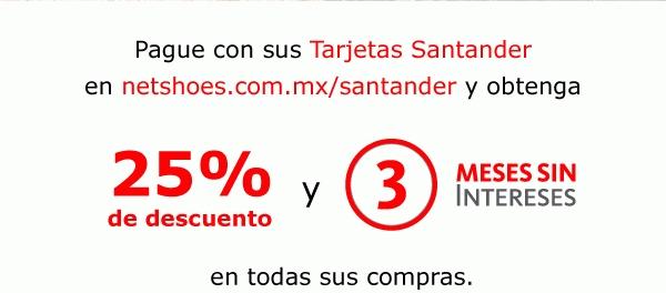 Netshoes: 25% de descuento pagando con Santander