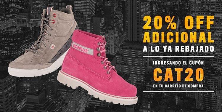 CAT online: descuentos de hasta el 50% en calzado + cupón de dcto.