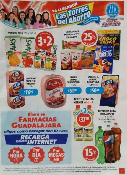 Folleto de ofertas en Farmacias Guadalajara del 1 al 14 de septiembre