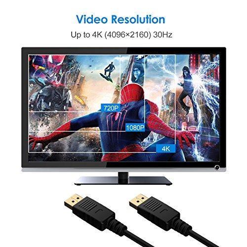 Amazon: Cable DisplayPort 1.8m Chapado de Oro 1080P Full HD Cable 4K Resolución 1080P Full HD, 4K Oferta Relámpago